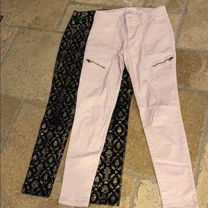 Tinseltown Denim Couture Black / Pink Skinny Cargo